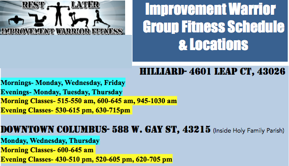Weight loss fitness classes in Downtown Columbus, OH