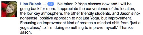 Hot Yoga Testimonial Jason Yun Improvement