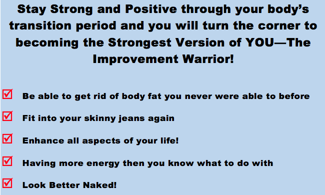 21-day fat loss program improvement warrior fitness