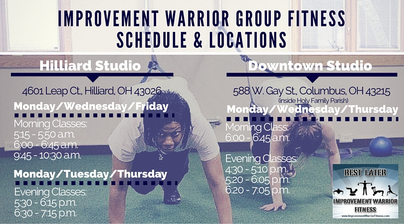 Hilliard and Downtown Columbus Improvement Warrior Fitness